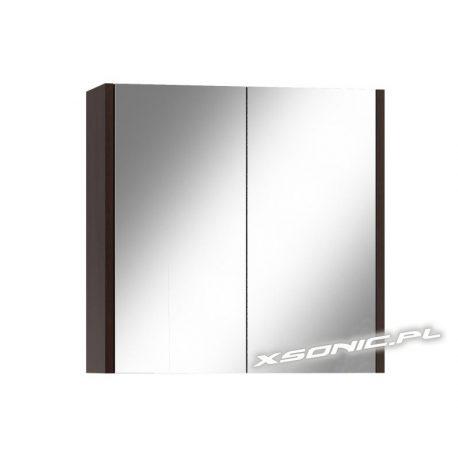 Szafka łazienkowa wisząca 80 cm z lustrem półka w środku