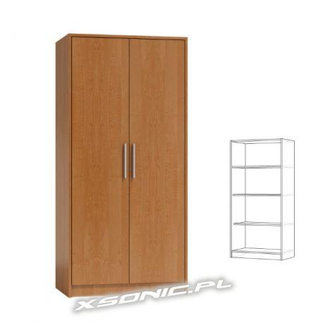 Duża szafa na ubrania do pokoju OLKA 2D PŁ 80cm same półki