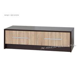 Stolik pod telewizor OLKA 2S 120cm dwie duże szuflady wenge śliwa dąb sonoma czarny biały miks kolorów