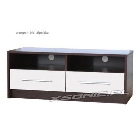 Stolik pod telewizor 2S2W 100cm wnęki na sprzęt i dwie szuflady dąb craft