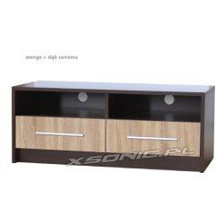 Stolik pod telewizor 2S+2W 120cm dwie wnęki na sprzęt i dwie szuflady różne kolory