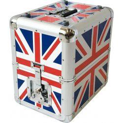 Skrzynia na płyty winylowe pojemność 80 sztuk elegancka i wytrzymała walizka