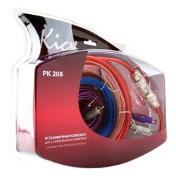 Zestaw kabli audio przewodów Kicx PK 208 do wzmacniacza dwukanałowego