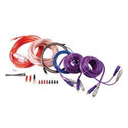 Zestaw okablowanie przewodów Kicx do instalacji audio głośników wzmacniacza czterokanałowego