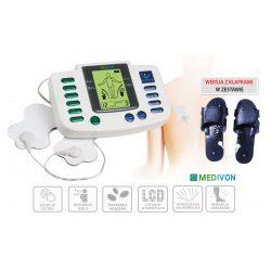 Elektrostymulator do masażu mięśni 5 trybów masażu w tym chiński + klapki do stóp