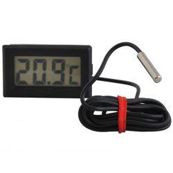 Termometr elektroniczny LCD do lodówki z sondą na kablu -50C +70C do zabudowy