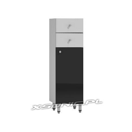 Szafka łazienkowa 30 cm szerokości komoda stojąca wysoki połysk