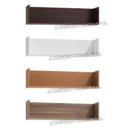 Półka szerokości 120 cm na ksiażki i pamiątki dąb Craft złoty srebrny