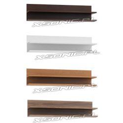 Podwója półka szerokości 120cm wisząca wenge olcha dąb Craft biały sonoma