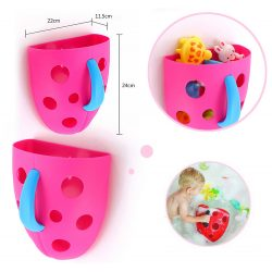 Pojemnik na zabawki kąpielowe do wanny na ścianę szybę na kosmetyki do wyławiania