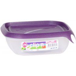 Pojemnik plastikowy CLIPER 0,75L zamykany na żywność kanapki jedzenie prostokąt niski