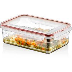 Pojemnik plastikowy 1,4L SAVER BOX zamykany na żywność jedzenie prostokąt z uszczelką