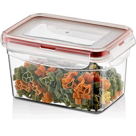 Pojemnik plastikowy 0,7L SAVER BOX zamykany na żywność jedzenie prostokąt z uszczelką