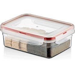 Pojemnik plastikowy 0,8L SAVER BOX zamykany na żywność jedzenie prostokąt z uszczelką