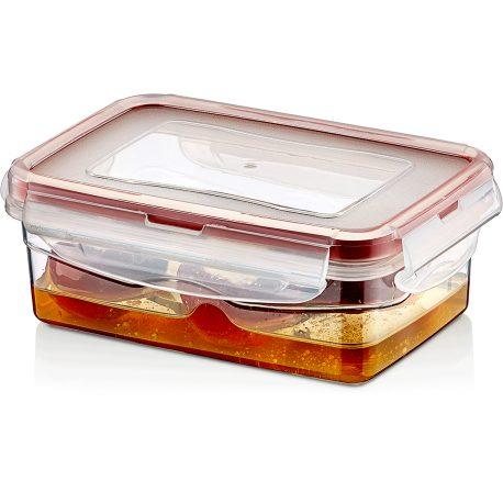 Pojemnik plastikowy 0,4L SAVER BOX zamykany na żywność jedzenie prostokąt z uszczelką