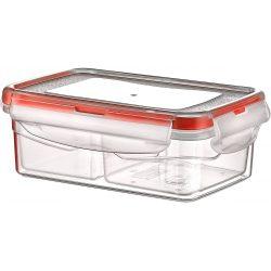 Pojemnik plastikowy dzielony 0,4L SAVER BOX zamykany na żywność jedzenie prostokąt z uszczelką