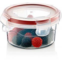 Pojemnik plastikowy 0,25L SAVER BOX zamykany na owoce sałatkę okrągły z uszczelką
