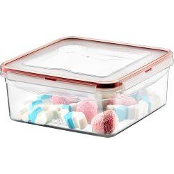 Pojemnik plastikowy 2,3L SAVER BOX zamykany na żywność jedzenie kwadratowy z uszczelką
