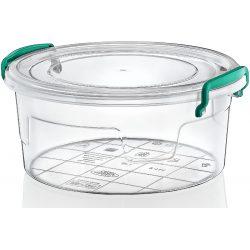 Okrągły pojemnik plastikowy 1,2L zamykany MULTIBOX na klipsy