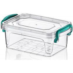 Pojemnik plastikowy na jedzenie 300ml zamykany MULTIBOX na klipsy z uchwytami