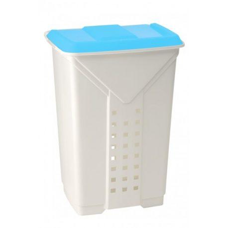 Kosz na pranie bieliznę EDA z pokrywą 60L do łazienki