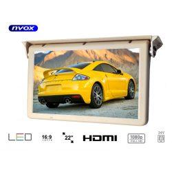 Monitor podwieszany NVOX matryca LED FULL HD 22 cali podsufitowy automatycznie opuszczany wejście HDMI zasilanie 24V