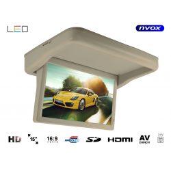 Monitor podwieszany podsufitowy marki NVOX o przekątnej 15 cali LED automatycznie otwierany i zamykany panel złącze HDMI USB SD