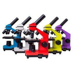 Biologiczny mikroskop z metalowym korpusem Levenhuk Rainbow 2L PLUS 5 kolorów doskonały do szkoły