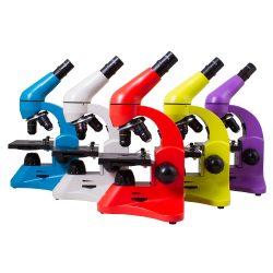 Edukacyjny mikroskop dla dzieci Levenhuk Rainbow 50L do badań i obserwacji futerał w zestawie