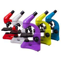 Optyczny mikroskop Levenhuk z metalowym korpusem duże powiększenie 5 kolorów do wyboru