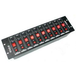 Panel włącznikowy 10 kanałowy sterowanie oświetleniem podświetlane przełaczniki