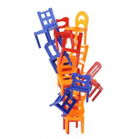 Gra zręcznościowa spadające krzesła krzesełka dla całej rodziny