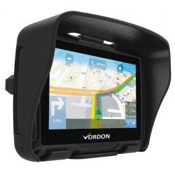 Nawigacja motocyklowa GPS motocyklowy Vordon 4,5 cala bluetooth mapy wodoodporna 2 uchwyty
