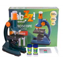 Mikroskop dla dzieci Levenhuk LabZZ M1 100–300x zestaw do eksperymentów w komplecie