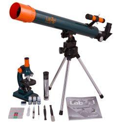 Zestaw dla najmłodszych badaczy i naukowców mikroskop i teleskop Levenhuk LabZZ MT2