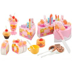 Grajacy tort urodzinowy do krojenia 75 elementów zabawka dziecięca kuchnia