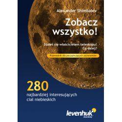 """Przewodnik astronoma """"Zobacz wszystko!"""" zdjęcia opis 280 ciał niebieskich mapy gwiazd"""