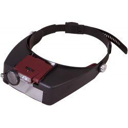 Lupa nagłowna z wbydowanym podświetleniem LED Levenhuk Zeno Vizor H2