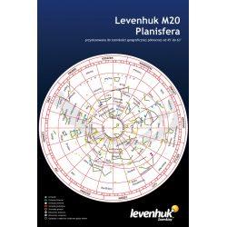 Duża planisfera Levenhuk M20 w języku polskim 21 x 31 cm obrotowa mapa nieba
