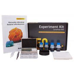 """Zestaw do eksperymentów kolorowy poradnik """"Niezwykły mikroskop. Badanie mikrokosmosu"""""""
