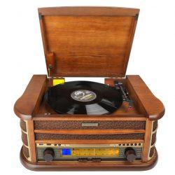 Odtwarzacz CD gramofon radio FM w drewnianej obudowie styl Retro HYUNDAI