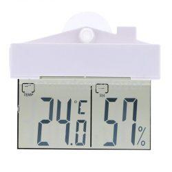 Termometr elektroniczny zewnętrzny na szybę okno z wyświetlaczem LCD domek