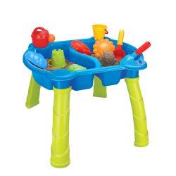 Piaskownica stolik na nogach zabawki i foremki zestaw dla dziecka