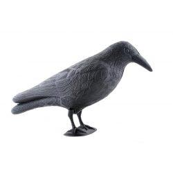 Duży kruk odstraszacz ptaków gołębi szpaków chroni krzewy i balkon