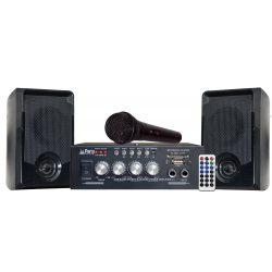 Zestaw karaoke Party KA100 wzmacniacz 2 x 50W wejście USB SD