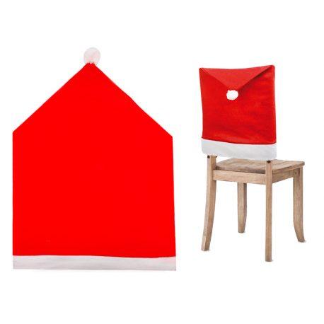 Świąteczny pokrowiec na oparcie krzesło czapka Mikołaja
