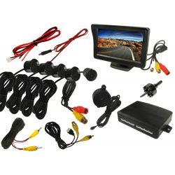 System parkowania video z kamerą monitorem LCD 4,3 cala i czujnikami parkowania