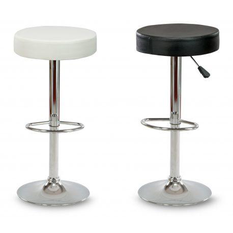 Klasyczny hoker stołek barowy z podnóżkiem biały lub czarny