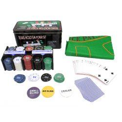 Zestaw do pokera Texas Hold'em z akcesoriami żetony sukno karty