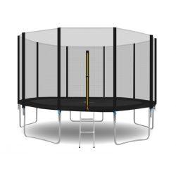 Trampolina ogrodowa 366cm 12ft drabinka siatka zewnętrzna 5 nóg